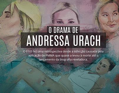 Ilustrações sobre o drama de Andressa Urach - Site Ego
