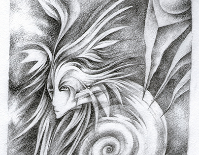 """A series of drawings """"Tales of the Inner Earth"""""""