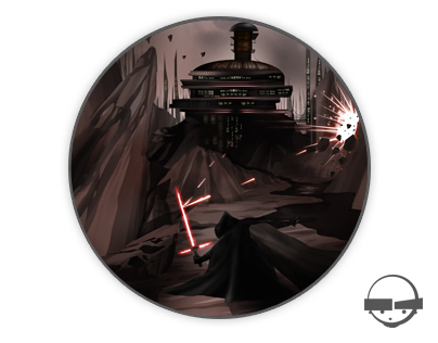 Kylo Ren Character & Concept Environment Illustration
