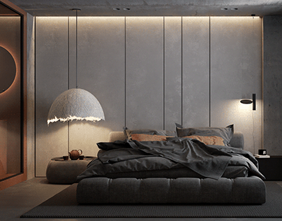 Minimalist concrete apartment in Moscow