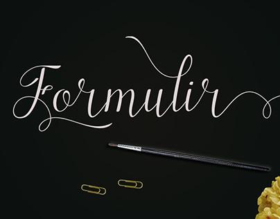 Formulir Album Font