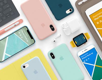 Geometric Apple Devices mock-up