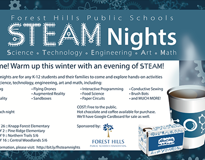 FHPS STEAM Nights Promo materials