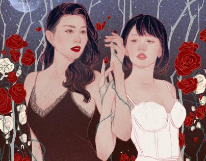Chị Chị Em Em Illustration story