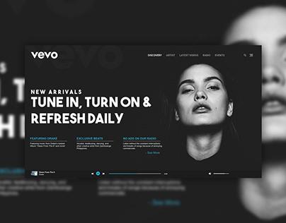 Vevo Music Website Concept