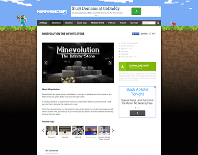 Web design for MinecraftMaps site