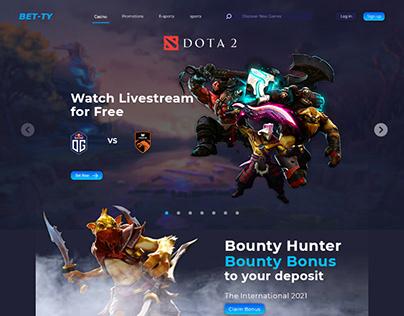 Web Design UI for Online Casino