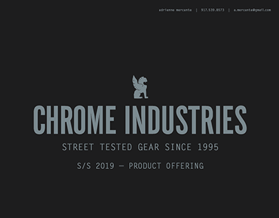 chrome industries - s/s 2019 product offering