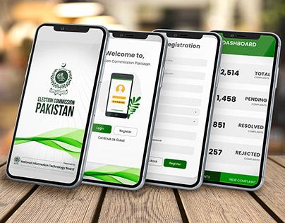 Election Commission Pakistan App-UI Design