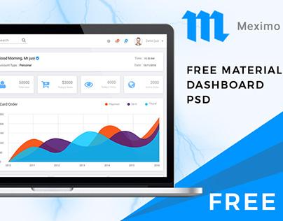 Meximo – Free Material Design Admin Dashboard