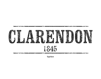 GRAPHIC | Clarendon Typeface Poster