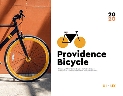 Providence Bicycle - website for a bike shop