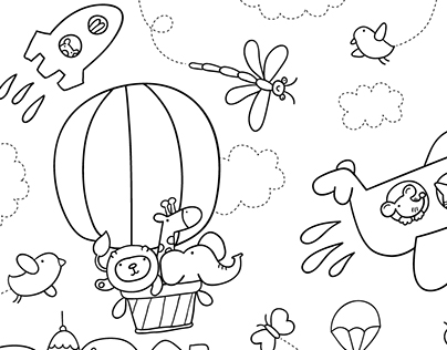 Unended Colouring Book: drive, sail, fly