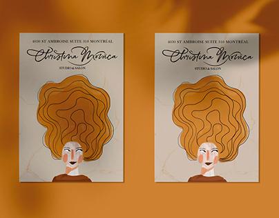 Branding / Christina Monica beauty hair salon