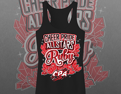 Cheer Pride Allstars - Ruby Tank Top