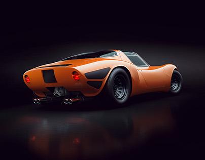 Alfa Romeo Tipo 33 Stradale CGI