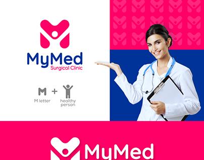 M + healthy person logo design