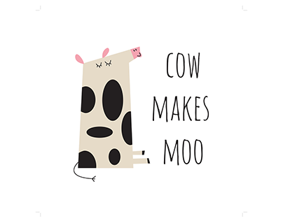 Cow Makes Moo | Handcrafted Brand ID
