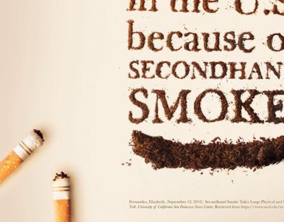 Secondhand Smoke Social Awareness Poster