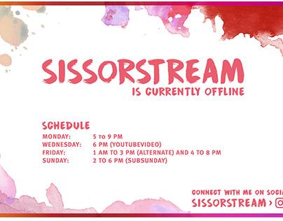 Twitch Channel Design für Sissorstream