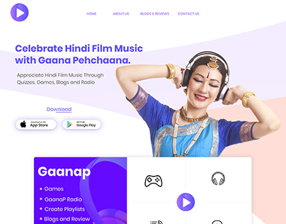 Gaanap Landing Page Design