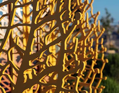 leaf sculpture--tower road