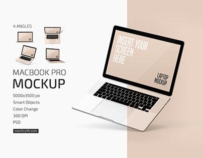 Macbook Pro Mockup Set