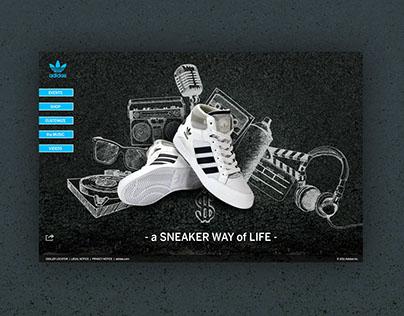 Adidas Sneakers' Microsite - Concept design