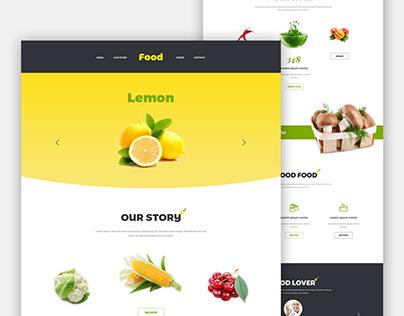Good Food Landing Page