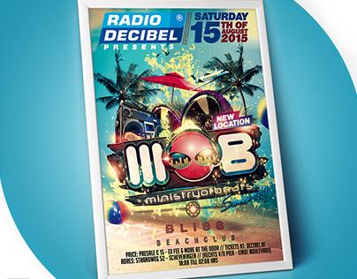 Poster design Radio Decibel