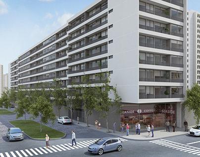 Edificio Portugal - Inmobiliaria CBS - by 3dmedia.cl