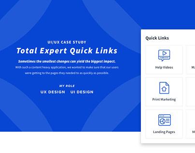 UI/UX Case Study - Quick Links