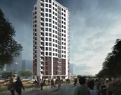 16 floor apartment in Kiev
