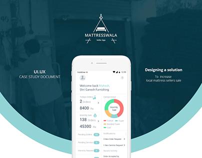 Matteresswala Case study: Service Design   UI-UX