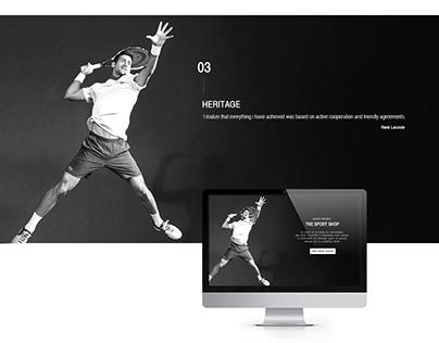 LACOSTE- fashion Web&Mobile design