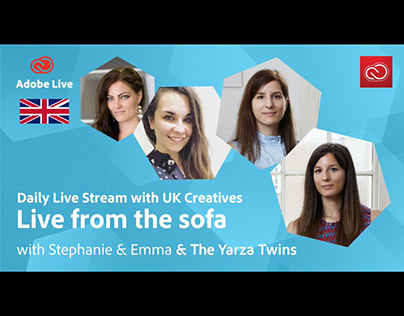 Adobe Live from the sofa UK with The Yarza Twins