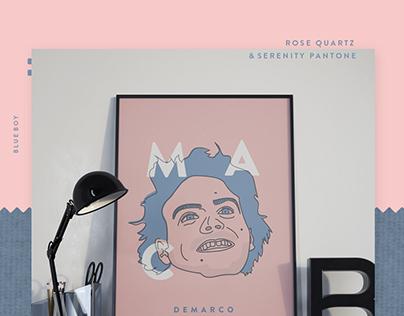 Mac Demarco - Rose Quartz and Serenity Pantone