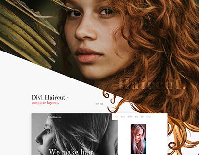 Divi Haircut Template Layout
