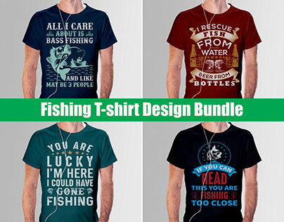 Fishing T-Shirt Design Bundle