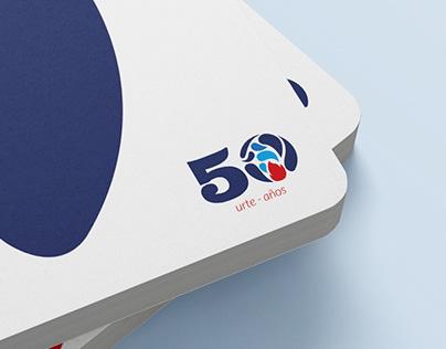 Bizkaia´s fire brigade 50th anniversary logo
