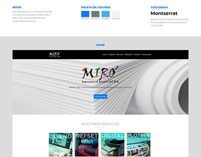 Diseño Web - Miró Impresores