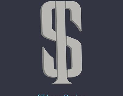Letter ST Logo Design