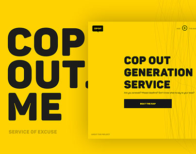 Copout.me - Service of Excuse