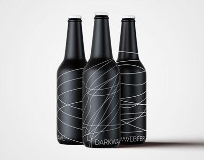 darkwavebeer packaging design