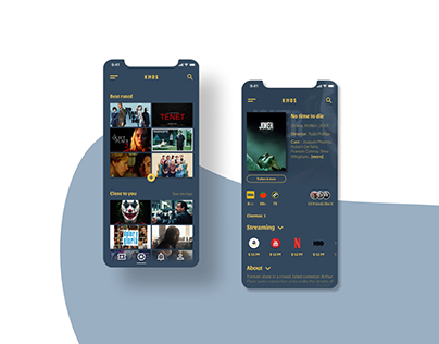 KINOS - Cinema app design