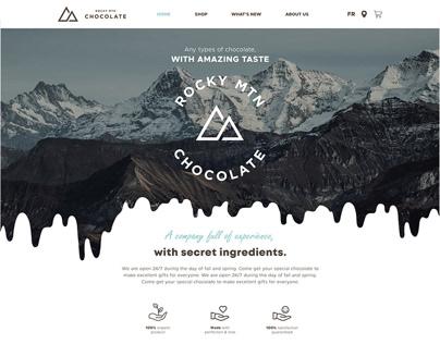 Rocky Mountain Chocolate Website Design