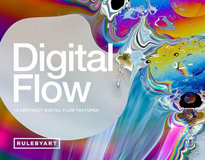 Digital Flow: 18 Abstract Textures