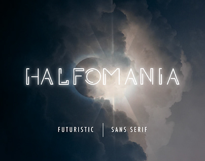 HALFOMANIA - FREE FUTURISTIC SANS SERIF