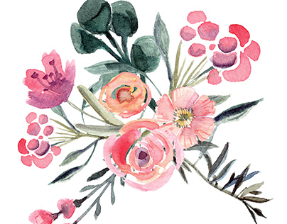 Just some watercolor flowers, created in different time