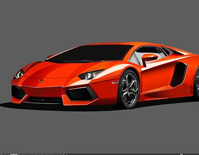 Drawing for Lamborghini Aventador in Adobe Illustrator on ...